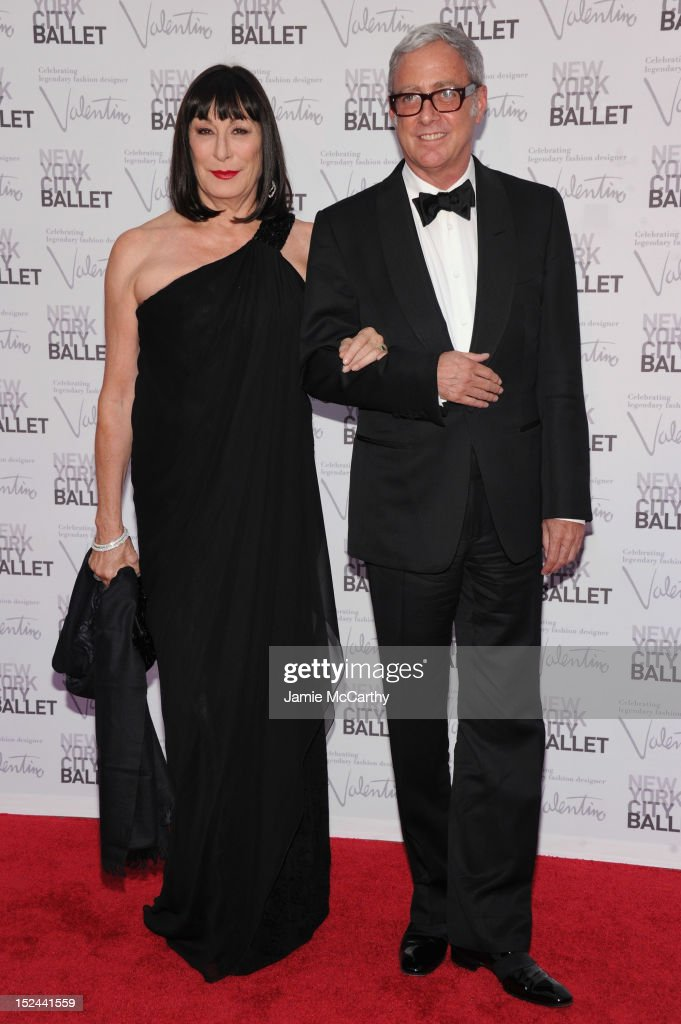 Anjelica Huston and guest attend the 2012 New York City Ballet Fall Gala at the David H. Koch Theater, Lincoln Center on September 20, 2012 in New York City.