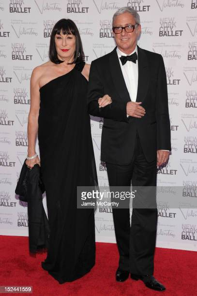 Anjelica Huston and guest attend the 2012 New York City Ballet Fall Gala at the David H Koch Theater Lincoln Center on September 20 2012 in New York...