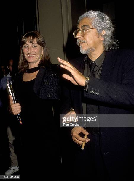 Anjelica Huston and Husband Robert Graham during Spirit of Liberty Awards May 12 1992 at Beverly Wilshire Hotel in Beverly Hills California United...