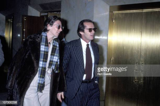 Anjelica Huston and Jack Nicholson during Mabel Mercer in Concert at the Dorothy Chandler Pavillion in Los Angeles March 21 1978 at Dorothy Chandler...