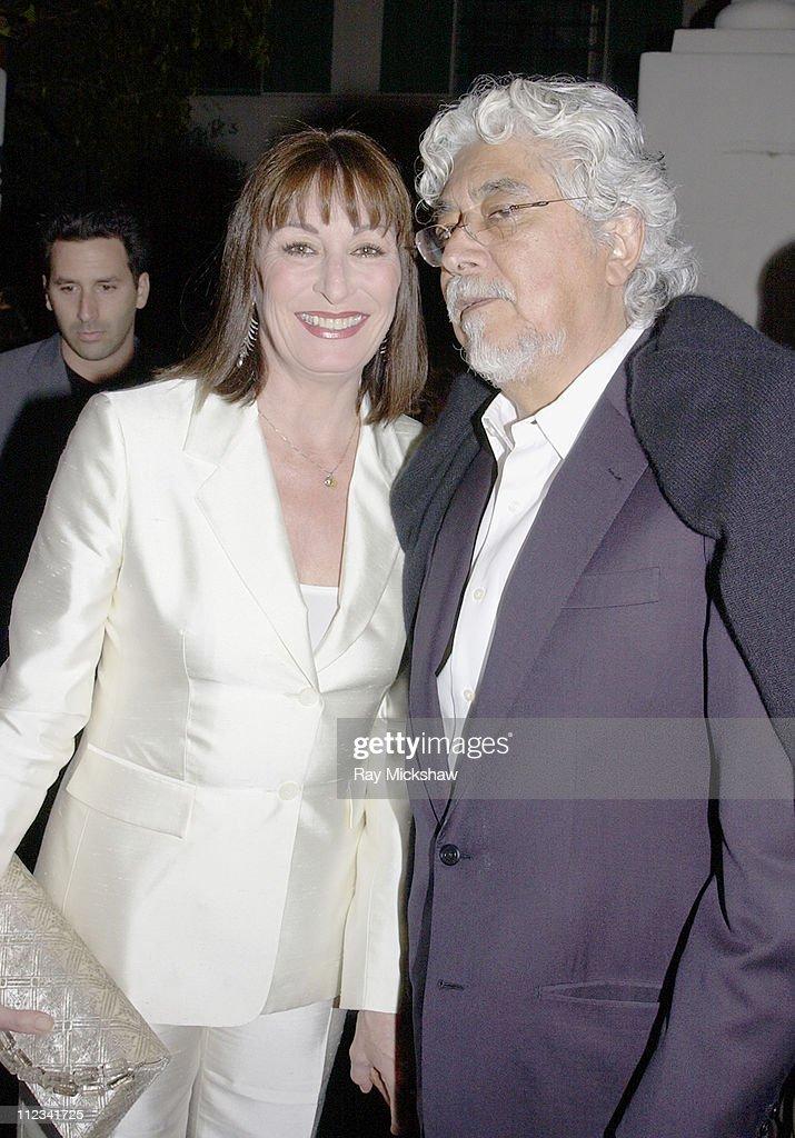 Anjelica Huston and Robert Graham during A Salute to Anjelica Huston in Santa Barbara, California, United States.