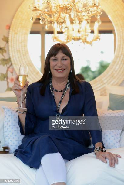Anjelica Huston at Airbnb's Hello LA Event at Cook's Garden by HGEL on September 27 2013 in Hollywood California