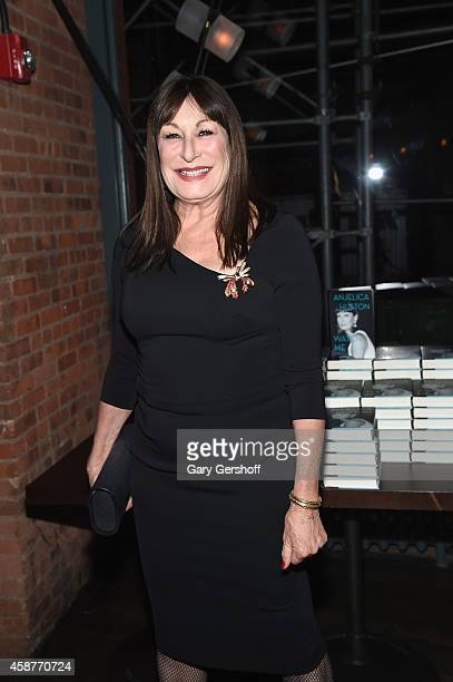 Anjelica Huston attends her 'Watch Me' Book Party at Chefs Club by Food Wine on November 10 2014 in New York City