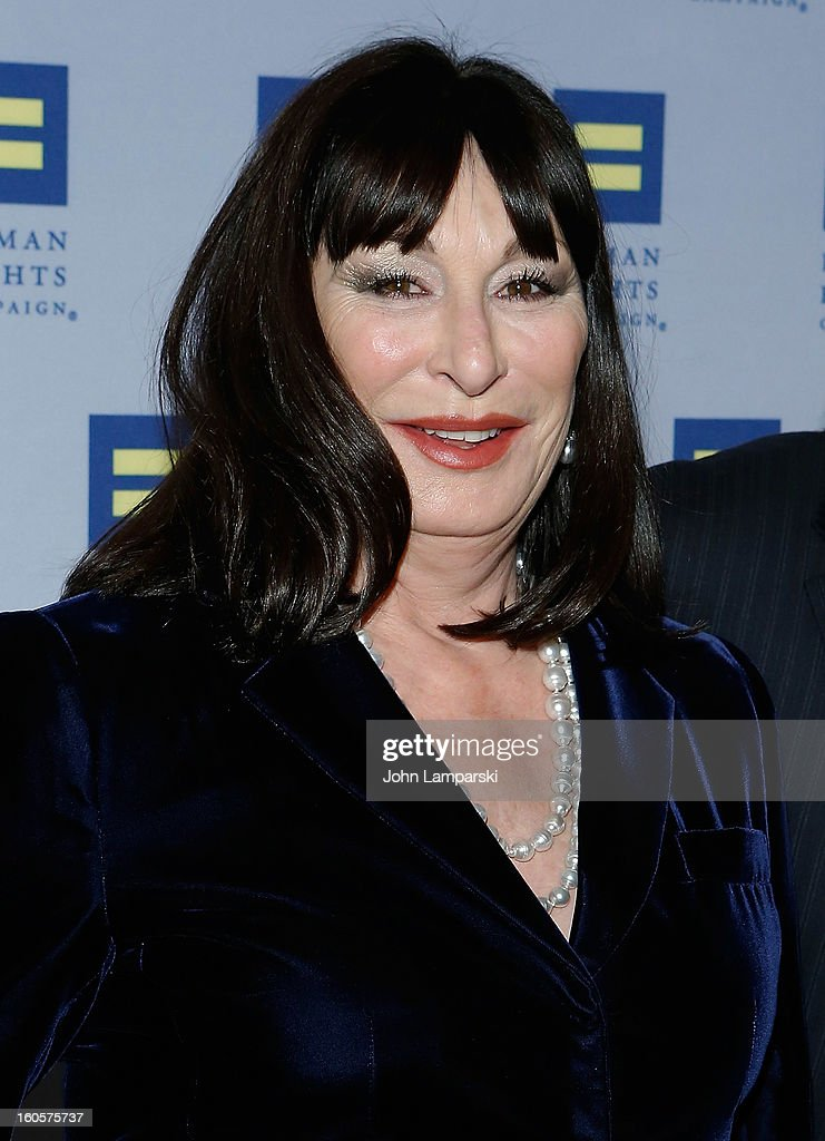 Anjelica Huston attends The 2013 Greater New York Human Rights Campaign Gala at The Waldorf=Astoria on February 2, 2013 in New York City.