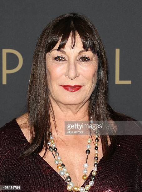Anjelica Huston attends the Los Angeles Philharmonic opening night concert and gala on September 30 in Los Angeles California