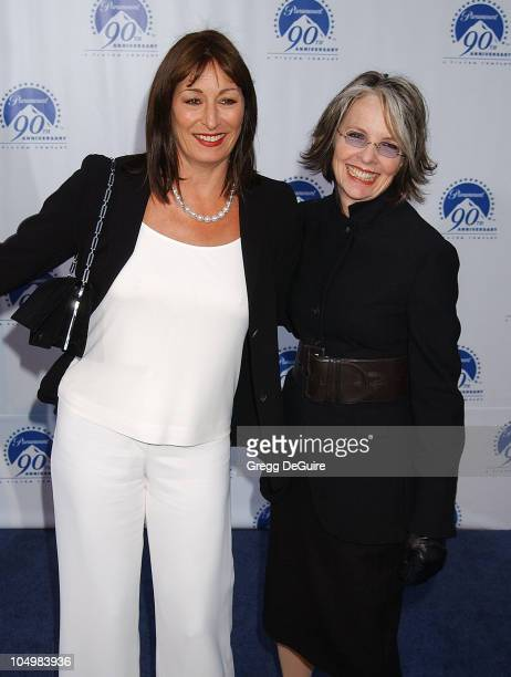 Anjelica Huston Diane Keaton during Paramount Pictures Celebrates 90th Anniversary With 90 Stars for 90 Years at Paramount Pictures in Los Angeles...