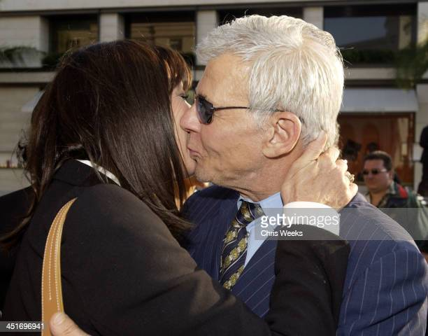Anjelica Huston Ed Limato during Rodeo Drive Walk of Style Torso by Robert Graham Unveiling at Rodeo Drive in Beverly Hills California United States