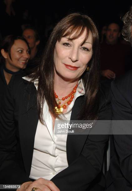 Anjelica Huston front row at Collection Bebe Fall 2006