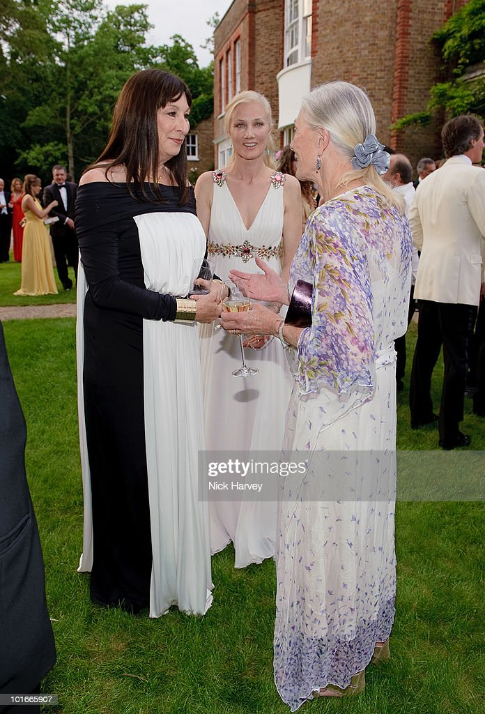 Anjelica Huston, Joely Richardson and Vanessa Redgrave attend the annual Raisa Gorbachev Foundation Party at Stud House, Hampton Court on June 5, 2010 in London, England.