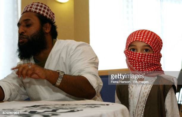 Anjem Choudary the head of muslin extremist group AlMuhajiroun in east London giving a news conference hailing the US September 11th attacks three...