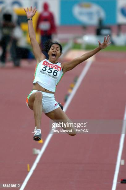 Anju Bobby George of India during the womens long jump final
