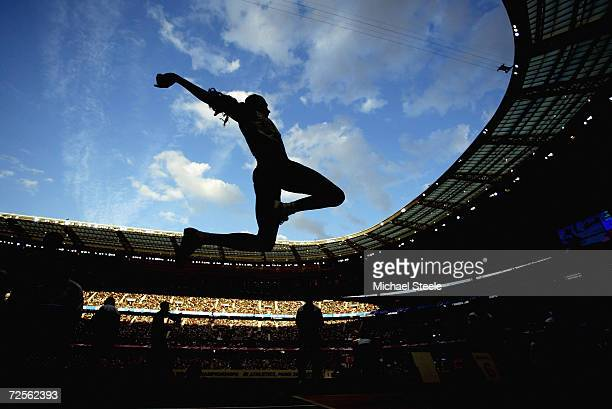 Anju Bobby George of India in action during the women's long jump final at the 9th IAAF World Athletics Championships August 30 2003 in Paris France