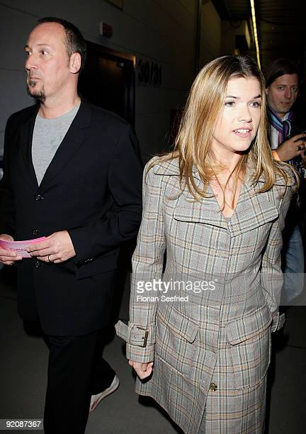 Anke Engelke and husband Claus Fischer attend the German Comedy Award 2009 at the Coloneum on October 20 2009 in Cologne Germany