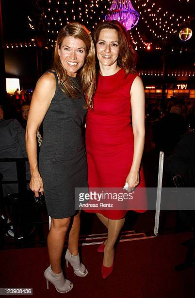 Anke Engelke and Martina Gedeck attend the Medianight 11 reception at the Tipi tent on September 5 2011 in Berlin Germany