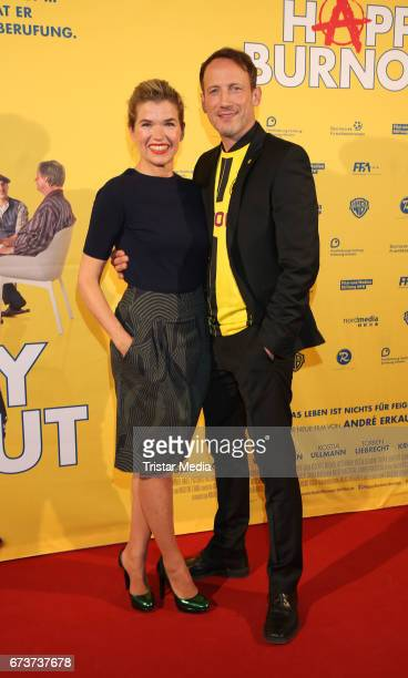 Anke Engelke and Wotan Wilke Moehring attend the 'Happy Burnout' Premiere at Cinemaxx on April 26 2017 in Hamburg Germany