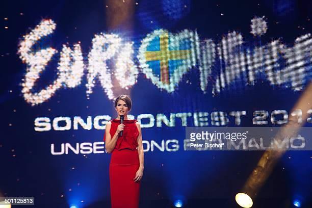 Anke Engelke ARDCastingShow 'Eurovision Song Contest 2013 Unser Star für Malmö' TUI Arena Hannover Niedersachsen Deutschland Europa Auftritt Bühne...