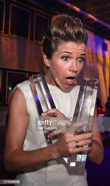 Anke Engelke attends the after show party of the German TV Award 2011 at the Coloneum on October 2 2011 in Cologne Germany