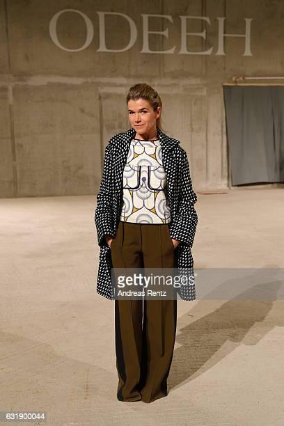 Anke Engelke attends the Odeeh defile during the Der Berliner Mode Salon A/W 2017 at Kronprinzenpalais on January 17 2017 in Berlin Germany