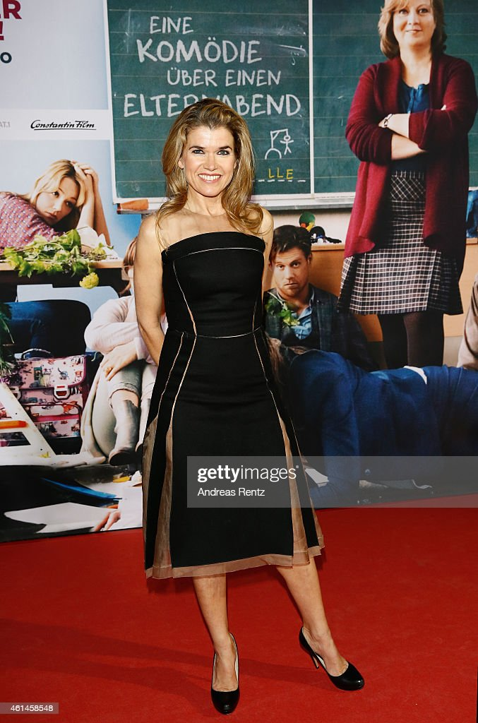 Anke Engelke attends the premiere of the film 'Frau Mueller muss weg' at Cinedom on January 12, 2015 in Cologne, Germany.