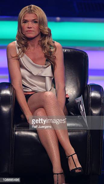 Anke Engelke performs during the TV show 'Unser Song fuer Deutschland' on February 7 2011 in Cologne Germany