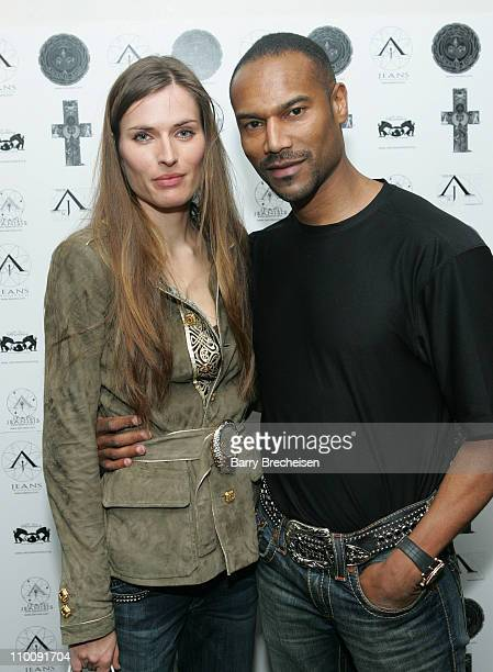 Anke Hebig Tony Prophet during Michelle Rodriguez and Anand Jon Host 2007 PreOscar Bash Featuring AJ Jeans Benefiting The Nature Sanctuary at...