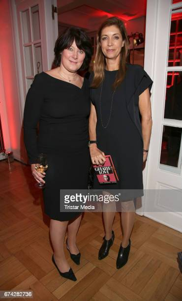 Anke Schaeferkordt and Christiane zu Salm during the Henri Nannen Award After Show Party on April 27 2017 in Hamburg Germany
