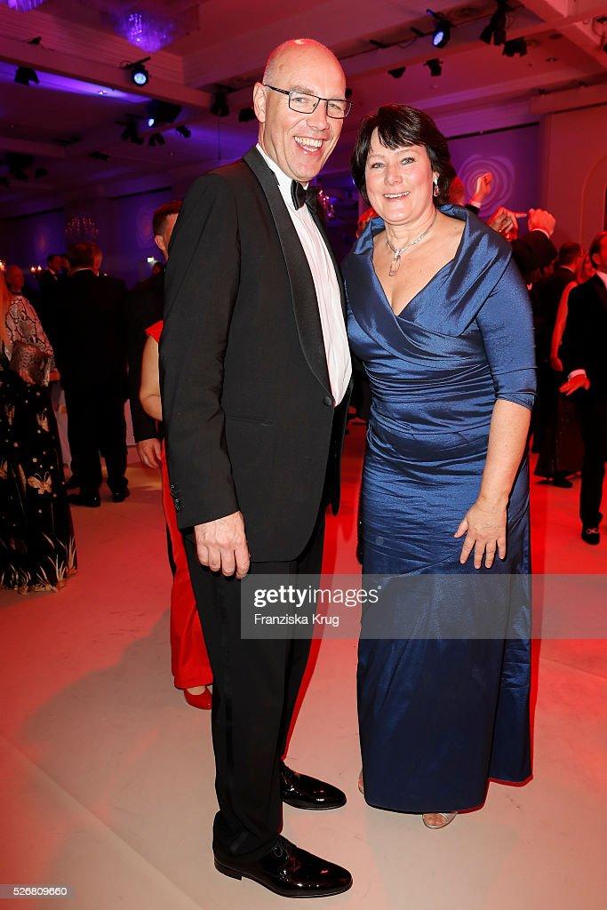 Anke Schaeferkordt and Harald Biermann attend the Rosenball 2016 on April 30, 2016 in Berlin, Germany.