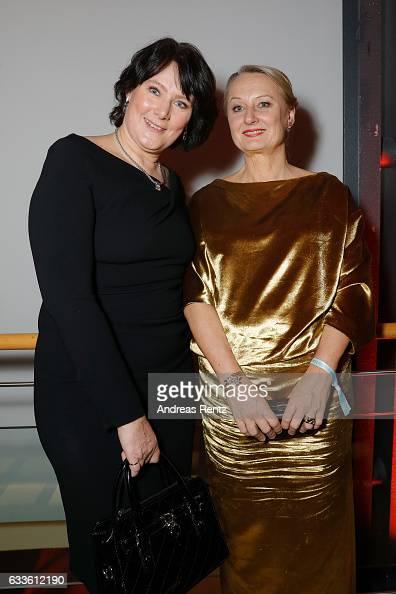 Anke Schaeferkordt and Ute Biernat attend the German Television Award at Rheinterrasse on February 2 2017 in Duesseldorf Germany
