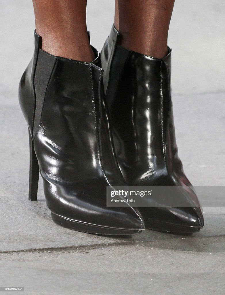 Ankle boots worn by <a gi-track='captionPersonalityLinkClicked' href=/galleries/search?phrase=Naomi+Campbell&family=editorial&specificpeople=171722 ng-click='$event.stopPropagation()'>Naomi Campbell</a> takes part in the 'The Face' Season 2 Pop Up Fashion Show at Bryant Park on September 11, 2013 in New York City.