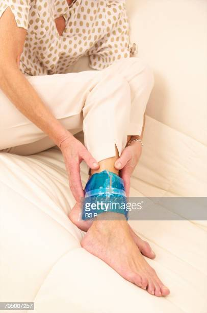 Ankle pain elderly person