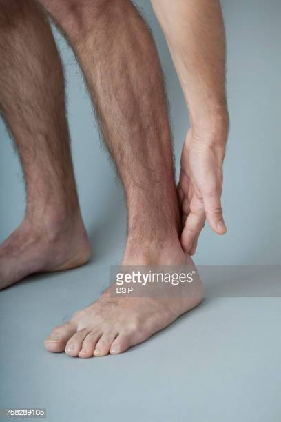 Ankle pain man