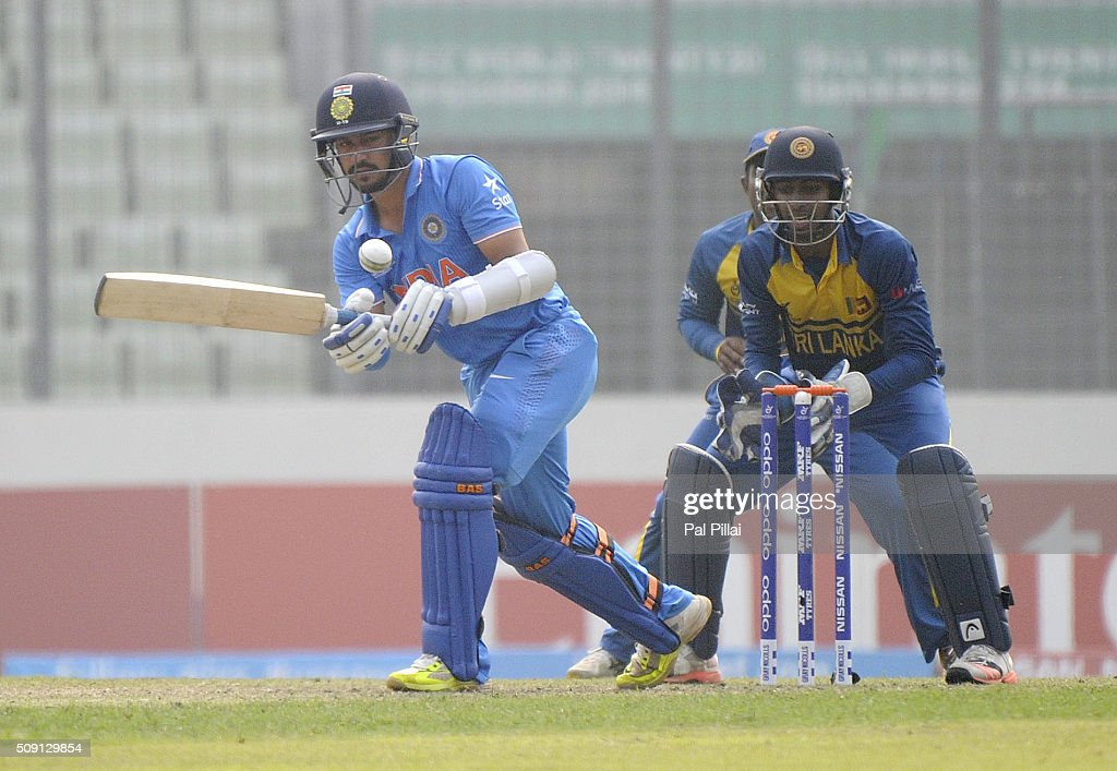 Anmolpreet Singh of India bats during the ICC U19 World Cup Semi-Final match between India and Sri Lanka on February 9, 2016 in Dhaka, Bangladesh.