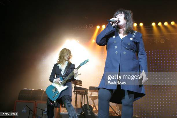 Ann and Nancy Wilson of Heart performs in Hard Rock Live at the Seminole Hard Rock Hotel and Casino on April 6 2006 in Hollywood Florida