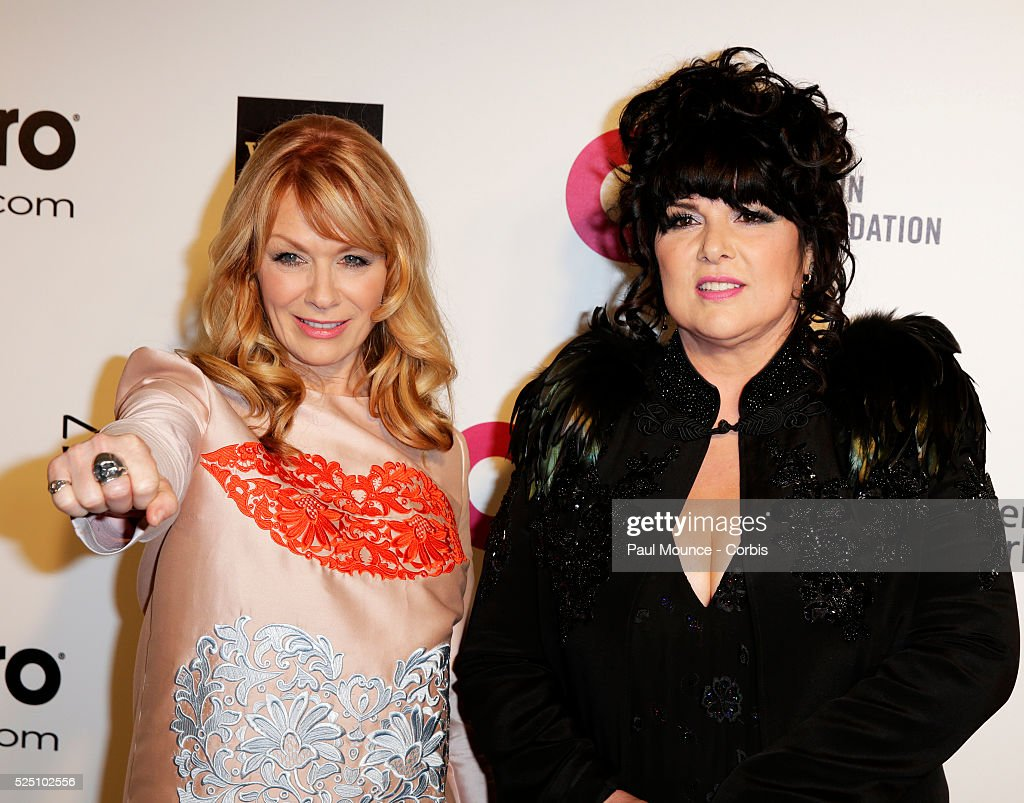 Ann and Nancy Wilson of the band 'Heart' arrive at the 22nd Annual Elton John Academy Awards Viewing Party to benefit the Elton John Aids Foundation