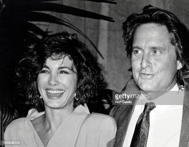 Ann Archer and Michael Douglas during 1988 Annual Academy Award Nominees Luncheon at Beverly Hilton Hotel in Beverly Hills California United States