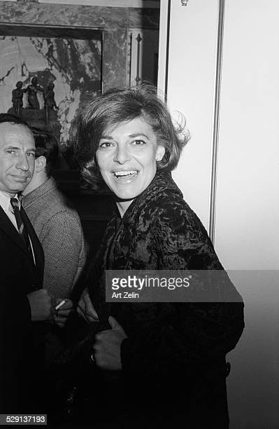 Ann Bancroft with Mel Brooks circa 1970 New York
