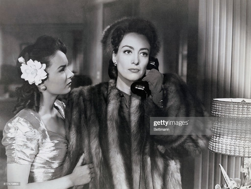 Ann Blyth and Joan Crawford star in the Warner Brothers' drama Mildred Pierce which was directed by Michael Curtiz