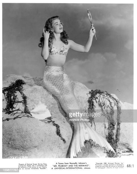 Ann Blyth as a mermaid in a scene from the film 'Mr Peabody and the Mermaid' 1948