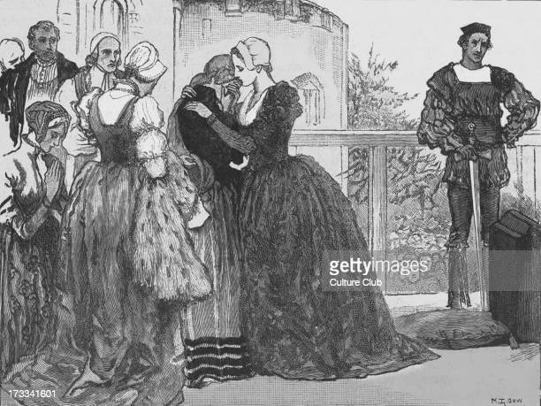 Ann Boleyn bidding fairwell to her ladies in waiting before her execution Queen of England from 1533 to 1536 as the second wife of Henry VIII...