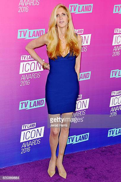 Ann Coulter arrives at the TV Land Icon Awards at The Barker Hanger on April 10 2016 in Santa Monica California