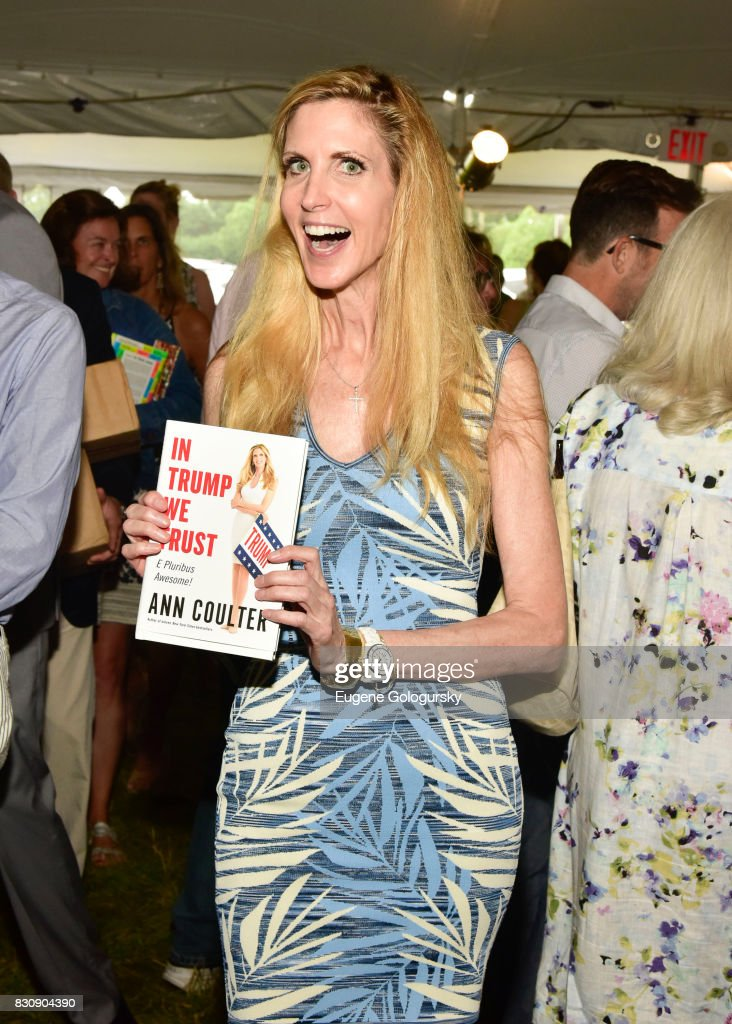 Ann Coulter attends Authors Night 2017 At The East Hampton Library at The East Hampton Library on August 12, 2017 in East Hampton, New York.