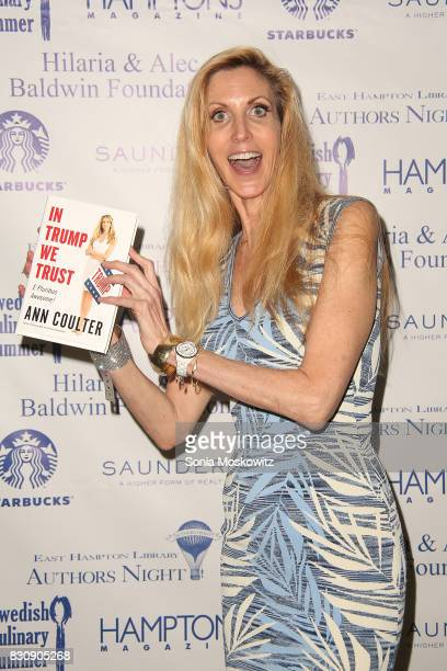 Ann Coulter attends Author's Night 2017 to benefit the East Hampton Library on August 12 2017 in East Hampton New York