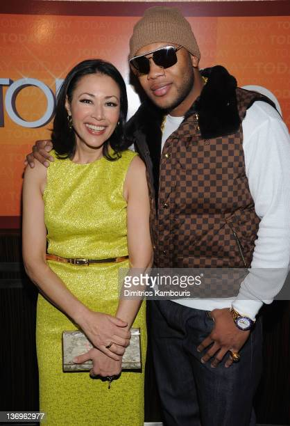 Ann Curry and Flo Rida attend the 'TODAY' Show 60th anniversary celebration at The Edison Ballroom on January 12 2012 in New York City