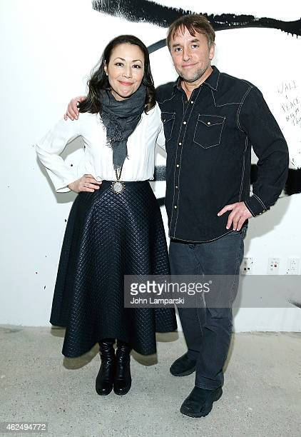 Ann Curry and Richard Linklater attend AOL Build Speaker Series presents Richard Linklater Director of 'Boyhood' moderated by Journalist Ann Curry at...