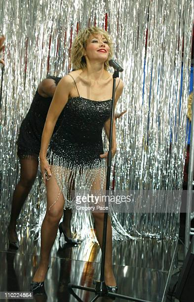 Ann Curry as Tina Turner during Halloween at the 'Today' Show at Rockefeller Plaza in New York City New York United States