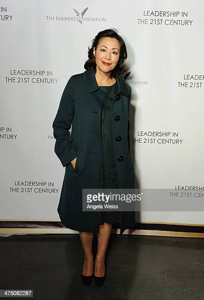 Ann Curry attends The Lourdes Foundation 'Leadership in the 21st Century' Event with His Holiness the 14th Dalai Lama at the California Science...