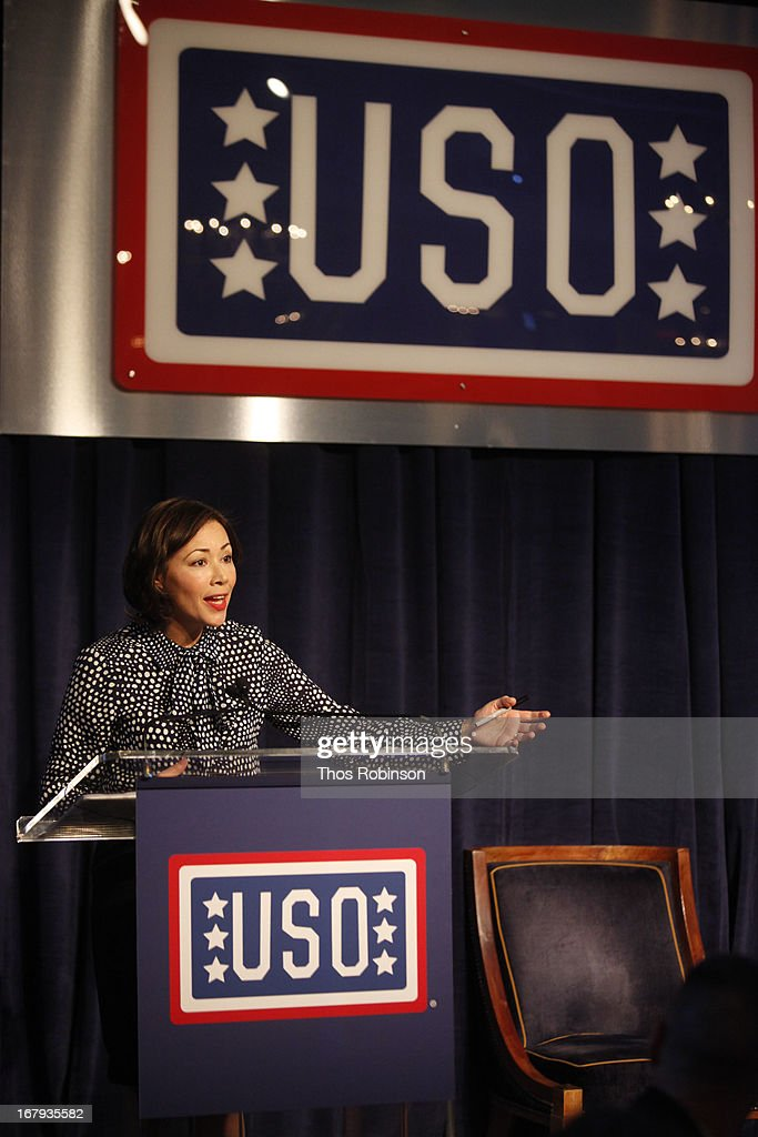 Ann Curry, correspondent/anchor of NBC News National and International and medal of honor recipient attends the USO Woman Of The Year Luncheon at The Pierre Hotel on May 2, 2013 in New York City.