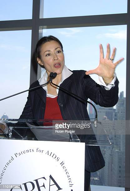 Ann Curry during Concerned Parents For AIDS Research Luncheon Honoring Sharon Stone Sally Morrison and Margie Emden at The Mandarin Hotel in New York...
