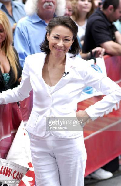 Ann Curry during Nick Lachey Performs on the Today Show July 3 2006 at Today Show Studios in New York City NY United States