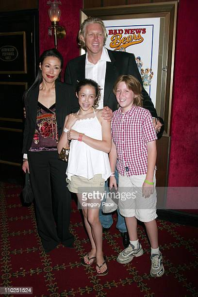Ann Curry with her husband Brian Ross daughter McKenzie and son Walker